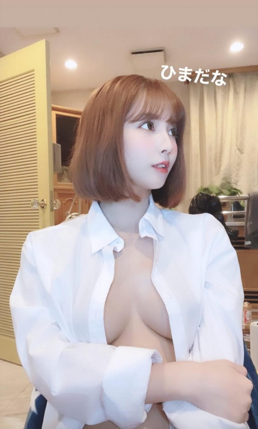 흰 와이셔츠 은꼴 오픈 레전드 슴가 라인